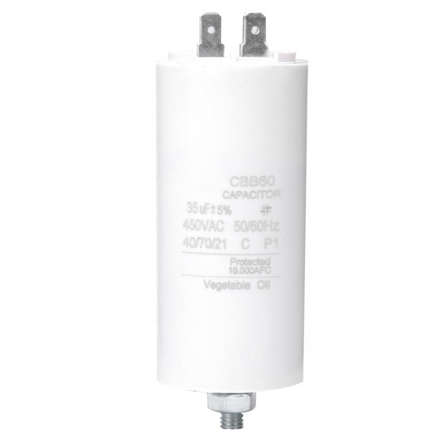 Motor Start Capacitor 450V 35uf Motor Start Run Capacitor With Screw Nut For Washing Machine