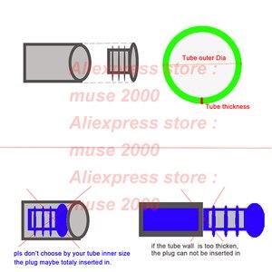Image 3 - 75x150 100*150 60*80 60*120 80*120 120*120mm tube plug PE plastic tube insert end blanking tube cover ends square oblong floor