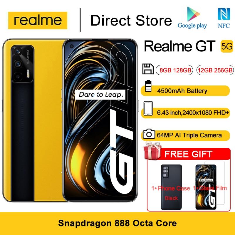 Realme gt 5g android 11 telefones celulares 6.43
