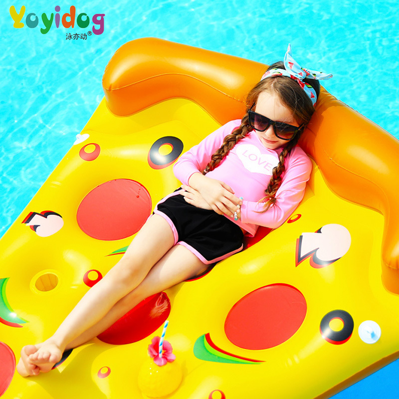 Yong Yi Dynamic New Style KID'S Swimwear Girls Split Type Solid Color Long Sleeve Boxers Sun-resistant GIRL'S Tour Bathing Suit