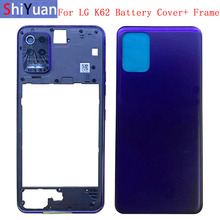 Battery Cover Rear Door Panel Housing Back Case For LG K62 Battery Cover with Frame Camera Lens Replacement Part