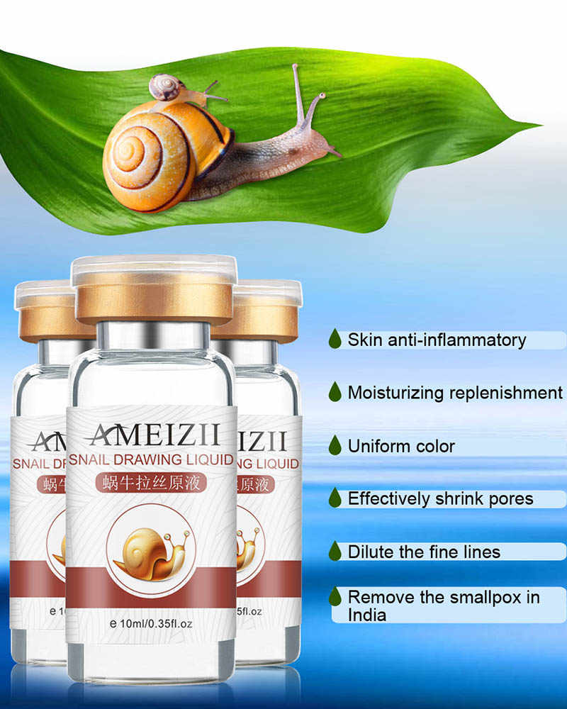 10 Ml Snail Essence Moisturizing Anti-Aging Facial Serum Cream Perawatan Kulit TSLM1
