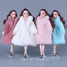 BJD Doll Clothes for 30cm 1/3 Dolls Fashion Plush Coat Doll Accessories Toys for Girls Diy Bjd Clothes Christmas Outfit Dress 1 3 1 4 1 6 bjd dolls clothes fashion white dress for bjd dolls toy clothing dress doll accessories