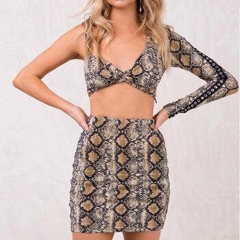 Vintage Mini falda serpentina alta cintura moda de calle rayas imprimir ropa para las mujeres