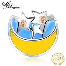 JewelryPalace Звезда Луна 925 стерлингового серебра бусины подвески оригинальный браслет оригинальный изготовление ювелирных изделий