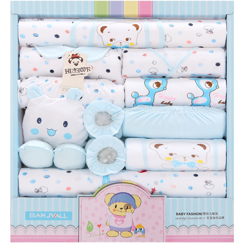 18 Pieces Pure Cotton Newborns Gift Box Spring And Summer Infant's Outfit Newborn Baby Underwear Supplies