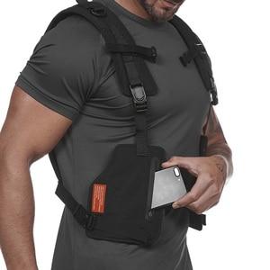 Image 5 - حقائب الصدر سترة التكتيكية للذكور سترة عاكسة مرئية للغاية 2020 جديد رجل الخصر حزمة الرجال متعددة جيب الأمن مكافحة سرقة جيب