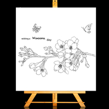 ZhuoAng butterfly Clear Stamps/Card Making Holiday decorations For  scrapbooking Transparent stamps 13*13cm