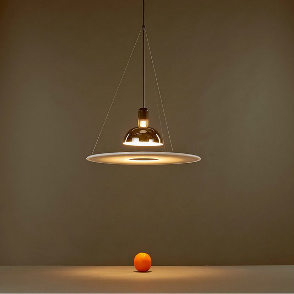 Italy's Flos Frisbi Designer Pendant Lamps Restaurant Study Living Room Hanging Light Luxury Creative Flying Saucer Decor Home
