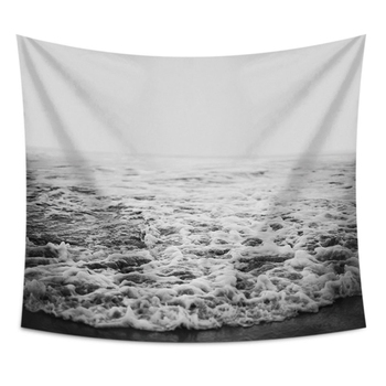 Nordic Wall Hanging Tapestry Hippie Ocean Waves Nature Sea Beach Tapestries Landscape Wall Cloth Boho Hippie Blanket Decor Wall