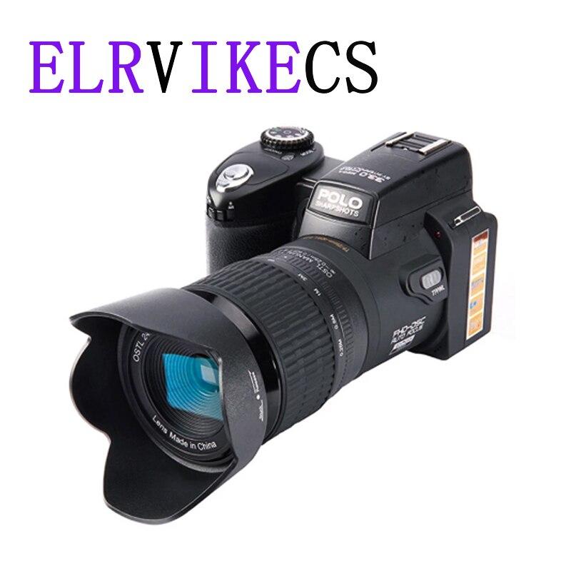 ELRVIKECS 2021 HD Digital Camera POLO D7100 33Million Pixel Auto Focus Professional SLR Video Camera 24X Optical Zoom Three Lens
