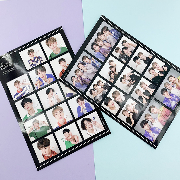 Sticker BTS Diary Sticker Stationery Sticker MTZ178-6 Computer Sticker Skateboard Sticker Idol Sticker Desk Calendar Sticker
