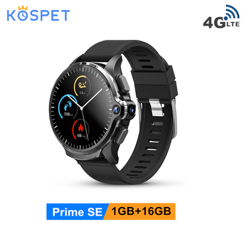 KOSPET Prime SE 4G Smart Watch 1GB 16GB 1260mAh 1.6inch Face ID Unclok Dual Lens Android Watch Phone Men For Xiaomi Android IOS