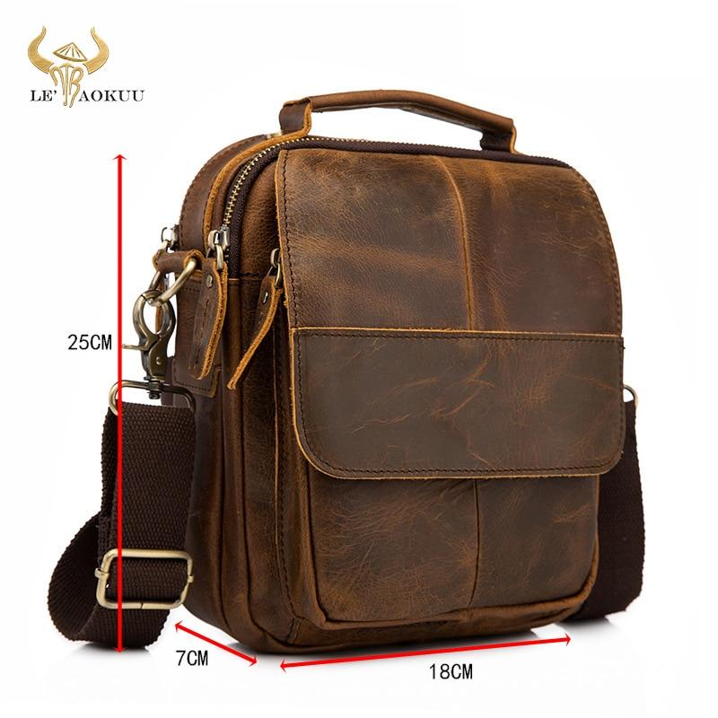 Оригинальная кожаная мужская модная повседневная сумка-тоут Mochila сумка дизайнерская сумка через плечо сумка для планшета Мужская 148-db