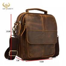 Original de couro masculino moda casual tote mensageiro mochila design mochila crossbody bolsa de ombro tablet bolsa masculina 148-db