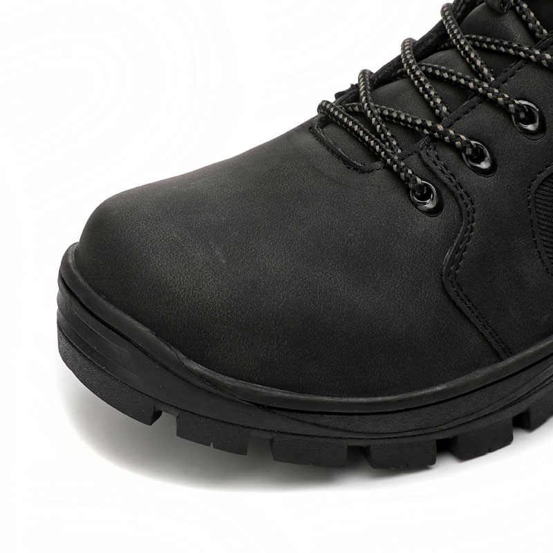 KORK Männer Winter Schnee Stiefel Warme Männer Hohe Qualität Wasserdichte Leder Männer Winter Stiefel Outdoor Männlichen Arbeit Schuhe Botas Hombre 40-46