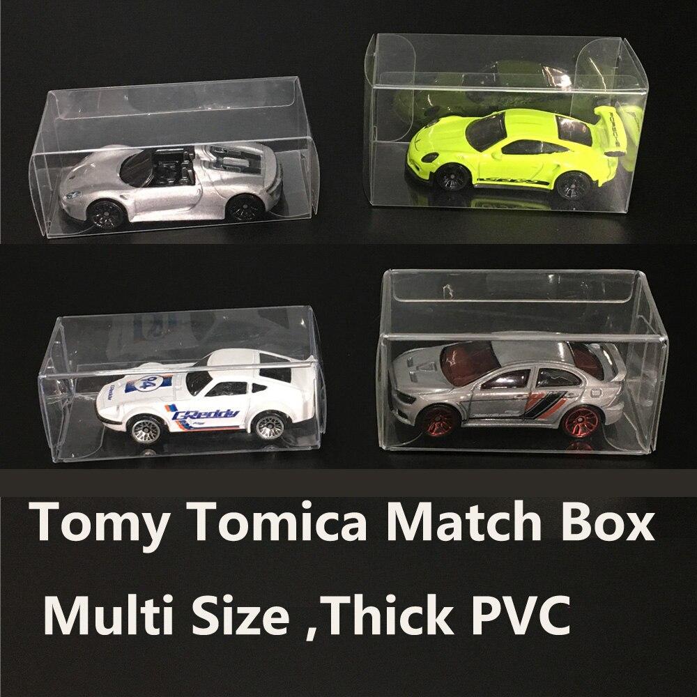 Tomy Tomica – boîte d'emballage de jouets en plastique transparent, 20 pièces, modèles de véhicules de voiture moulés sous pression, étui de rangement, boîtes d'emballage en PVC