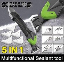 Dissolvant de Silicone 3/5 en 1, scellant de finition de calfeutrage, Kit de raclage en plastique lisse, outils de calfeutrage, grattoir angulaire multifonctionnel