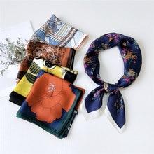 2020NEW square imitated silk scarf for Ladies fahsion chain printing  Joker scarfs retro women small shawls neckerchief