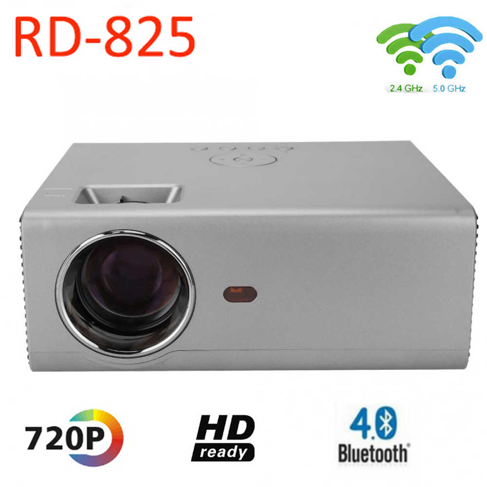 Original Design RD-825 HD Smart Projector Automatic Electrical Keystone  Correction Higher Brightness 1280*720 Home LED Projector