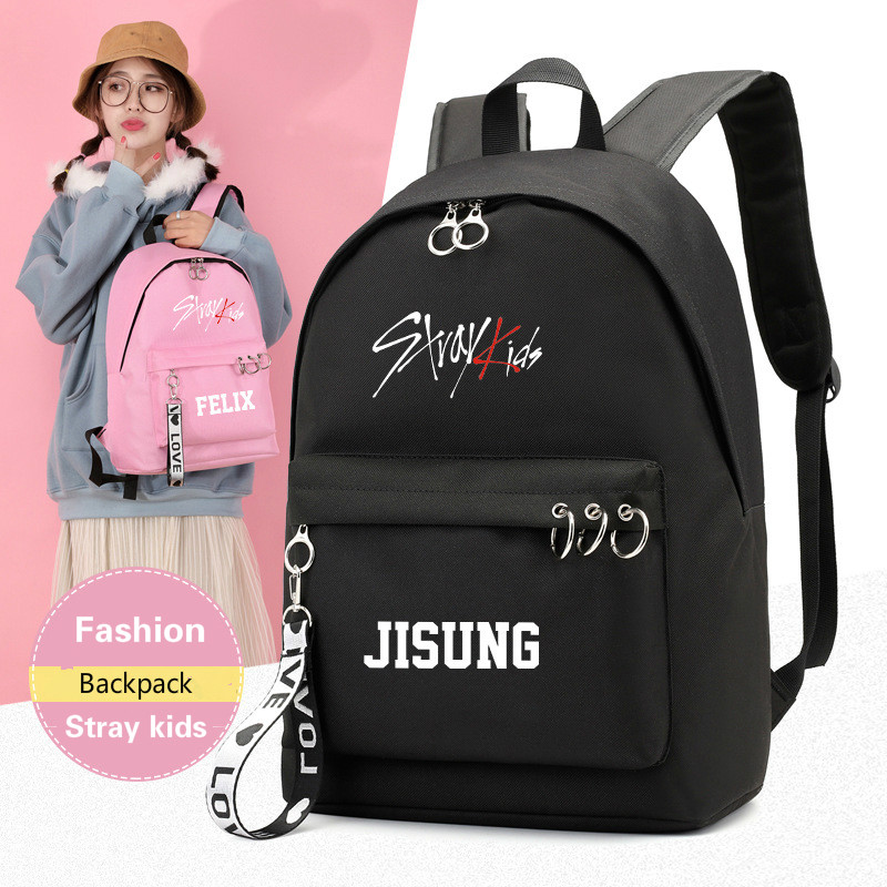 Kpop Stray Kids Backpacks Large Capacity High Quality Waterproof Polyester Stationery Bag Breathable Wearproof Stray Kids Kpop