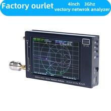 NanoVNA-SAA-V2 de pantalla de 4 pulgadas analizador de red de Vector negro, antena analizadora HF VHF UHF, batería de 2,2 MAh, versión 2000, 3GHz, GS400