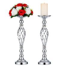 Wedding Decor 40cm Iron Art Candle Holder Candlestick Flower Home Table Ornamen