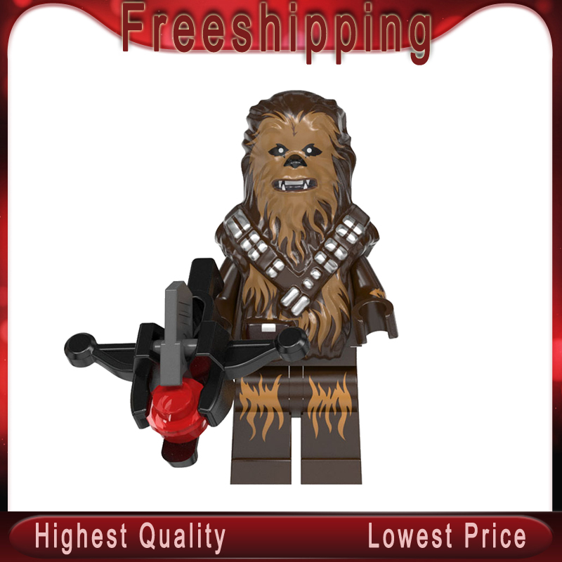 WM892 Chewbaccaed Legoinglys Stars Wars MinifigurINED Poe Leias Kylos Ren Palpatined Building Blocks Kits Toys For Children