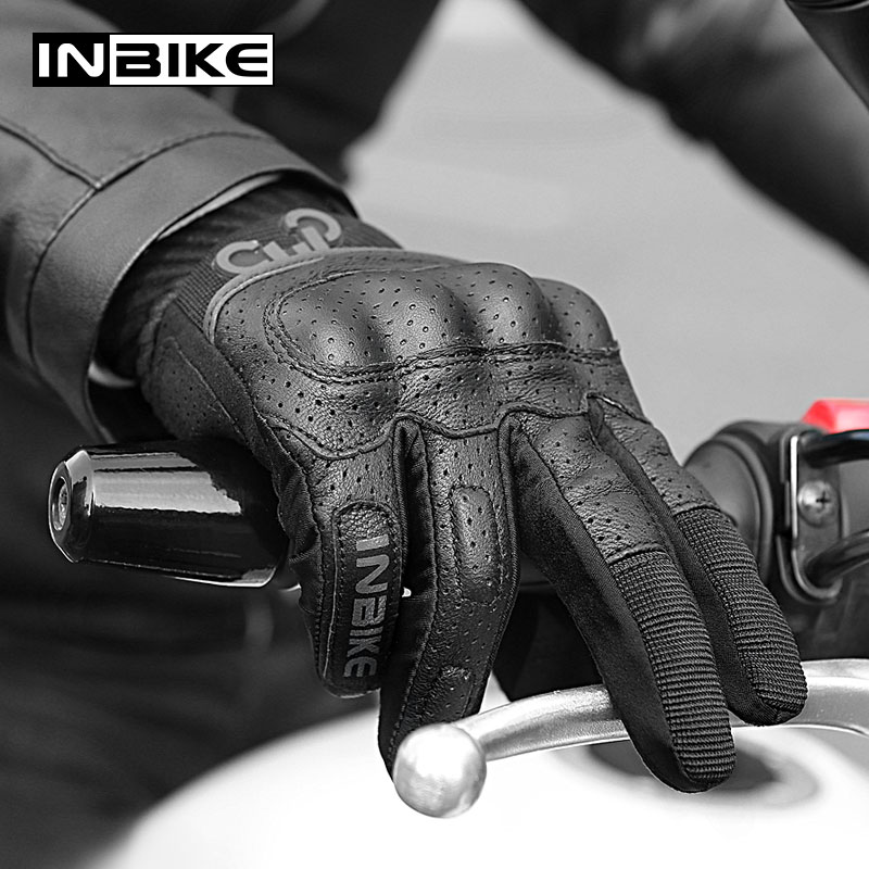 INBIKE Motorcycle Gloves Breathable Motor Protective Gear Touch Screen Outdoor Sports Cycling Racing Gloves Men Motorbike Gloves