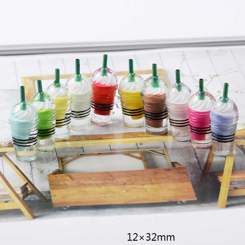 Abalorios de Baba 4 Uds., taza para helado, plastilina de resina, accesorios para hacer cuentas de Baba, suministros para artesanías de álbum de recortes para bricolaje, Juguetes