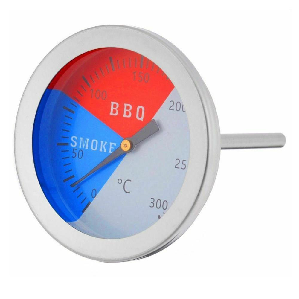 300 Degrees Celsius Thermometer BBQ Smoke Grill Oven Temperature Gauge Outdoor Camp Tool