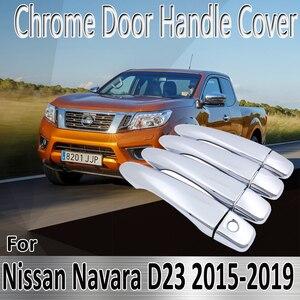 Для Nissan Navara NP300 Navara D23 Renault Alaskan 2015 ~ 2019 наклейки Декоративные Хромированные дверные ручки Крышка Ремонт автомобильные аксессуары