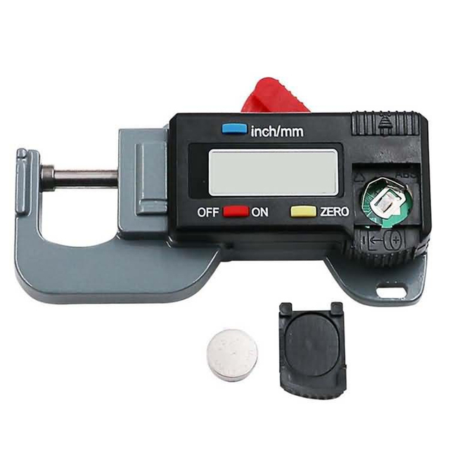 Cyfrowy LCD miernik grubości mikrometr 0-12 7x25x0 01mm 0 005-cal poziome papier gumowy szerokość tkaniny narzędzia pomiarowe tanie i dobre opinie VLASOV Digital LCD Thickness Gauge Micrometer 0-12 7x25x0 01mm 0 005-inch Hor 0-12 7mm 0 5 0 01mm 0 005 0 03mm 0 001