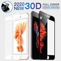 30D Sofe Edge полное покрытие закаленное стекло для iPhone 11 Pro X Xr Xs Max Защита экрана для iPhone 7 8 Plus 6 6s SE 2020 стекло