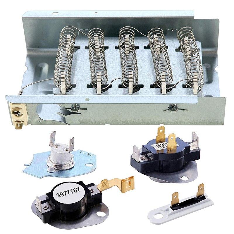 279838 kurutma makinesi ısıtma elemanları seti termal sigorta kurutma makinesi termostat yedek aksesuarlar için jakuzi  Kenmore  Roper  Maytag  R title=