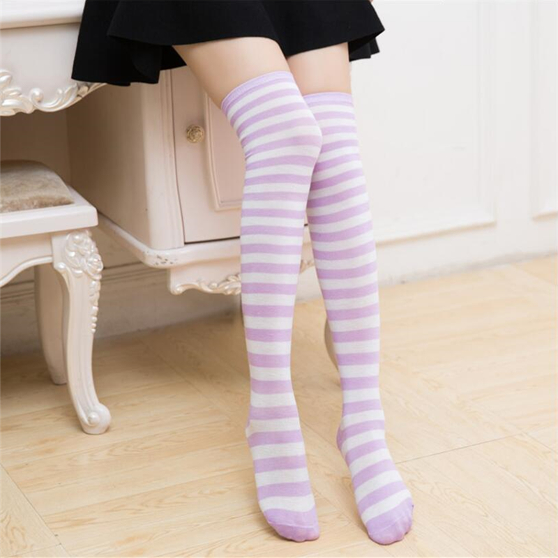 New Halloween christmas Socks Fashion Stockings Casual Cotton Thigh High Over Knee High Socks Girls Female