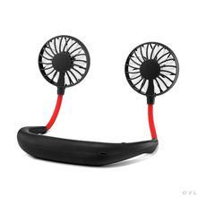Portable USB Fan Hand Free Neckband Sport Wearable Desktop