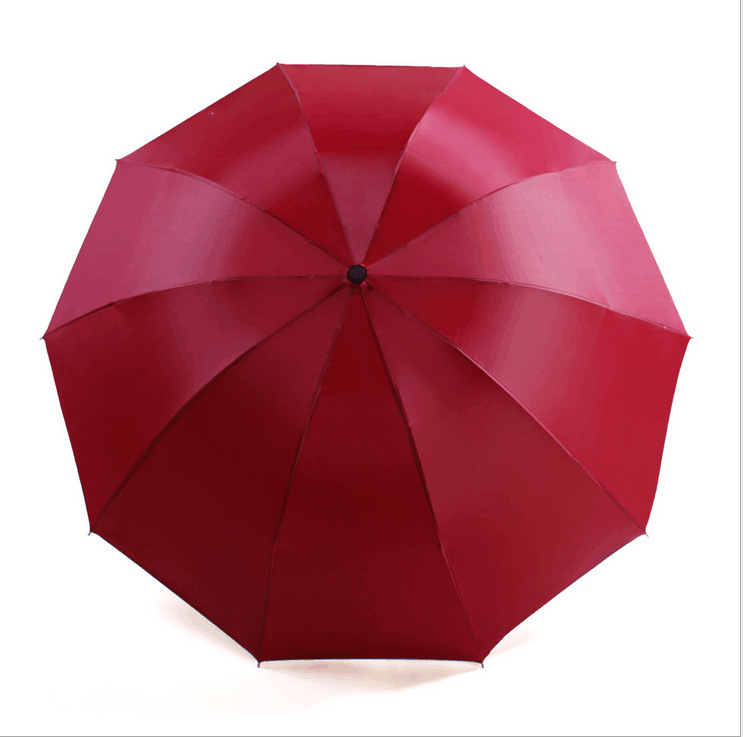 Manufacturers Direct Selling Solid Color Folding Umbrella Three Fold Parasol Customizable Logo/Advertising Umbrella