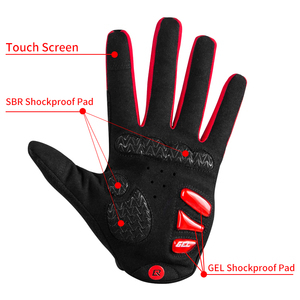 Image 2 - ROCKBROS guanti da ciclismo antivento Touch Screen equitazione MTB guanti da bici guanti termici caldi per moto guanti da bici autunno inverno