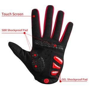Image 2 - ROCKBROS rüzgar geçirmez bisiklet eldiveni dokunmatik ekran sürme MTB bisiklet bisiklet eldiven termal sıcak motosiklet kış sonbahar bisiklet eldivenleri