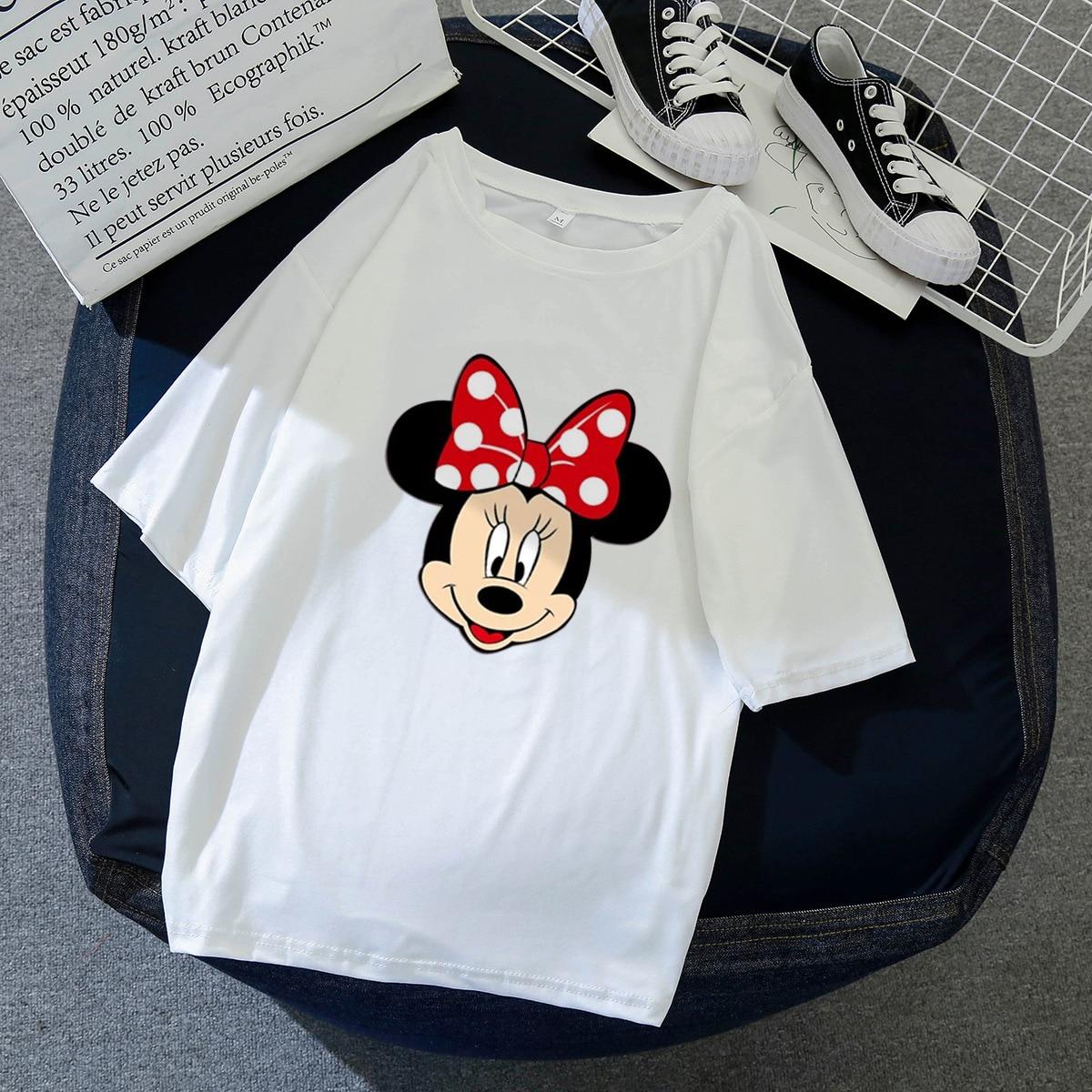 2020 Women's T-shirt Cartoon Animal Mouse Short Sleeve Summer Shirt Minnie Shirts Couple Shirt T Shirt Women Clothing