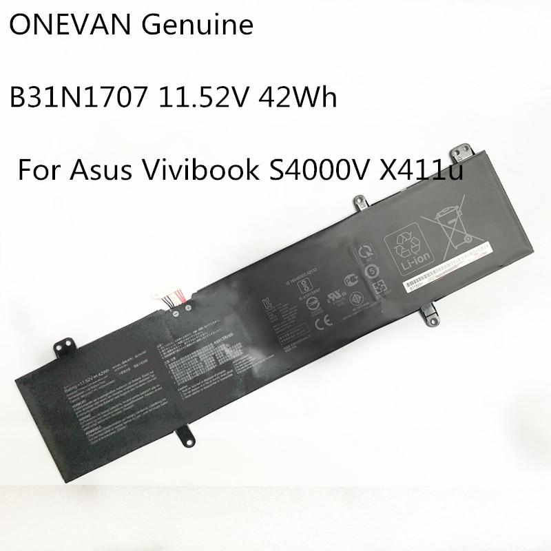 ONEVAN Genuine B31N1707 Laptop Battery ASUS VivoBook S14 S410UQ S410UN S41OUN S4100V S4100VN S4200U X411UA X411UF X411UN X411UQ