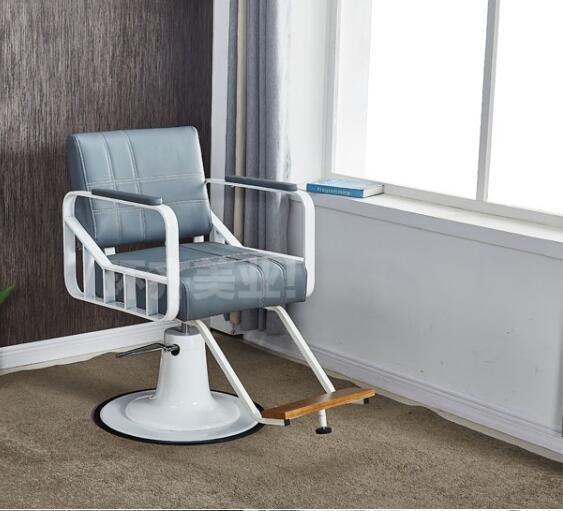 Barbershop Chair Hair Salon Dedicated Simple Modern Beauty Shop Chair Iron Lifting Cutting Hair Chair Shampoo Bed