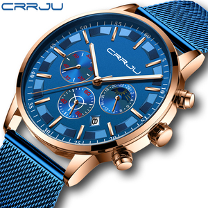 Image 1 - นาฬิกาผู้ชายRelogio Masculino CRRJUสุดหรูยี่ห้อธุรกิจเหล็กนาฬิกาควอตซ์Casualนาฬิกาข้อมือชายกันน้ำChronograph
