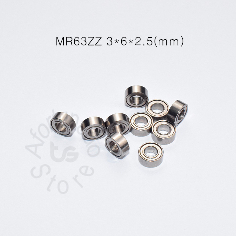 MR63ZZ 3*6*2.5(mm) 10pieces ABEC-5 Metal Sealed Miniature Mini Bearing Free Shipping MR MR63 MR63ZZ Chrome Steel Bearing