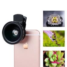 Universal Clip HD 37MM 0.45x Super Wide Angle 12.5x Macro Camera Lens