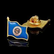 USA State of Minnesota National Waving Flag Brooch Brooch Pin Badge Suits Tie Clip/Bag Accessories israel flag pin brooch waving national flag style flag badge brooch w butterfly clip clothes accessories