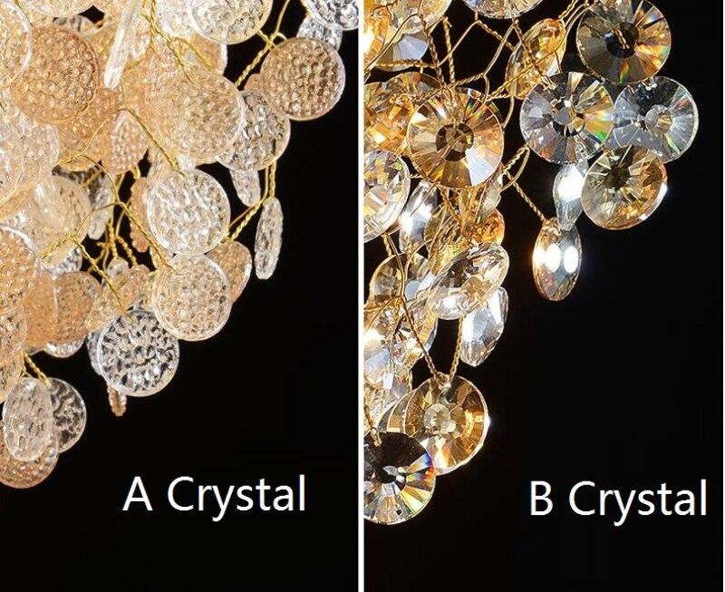 Image 5 - French crystal chandelier romantic golden living room dining room decoration lamp custom hotel project lightingChandeliers   -