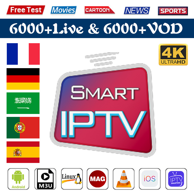 IPTV Belgium Spain Portugal Italy IPTV Arabic Germany Android M3u Smart Tv IPTV Subscription 1 Year VOD IP TV