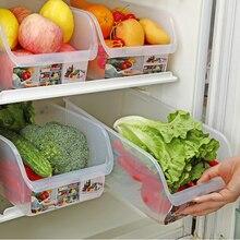 1/2/4PCS Kitchen Fridge Freezer Space Saver Organizer Refrigerator Storage Rack Shelf Holder Drawer Box